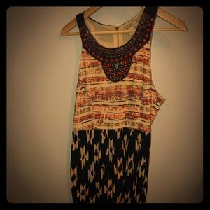 Lucky Brand dress with beaded neckline
